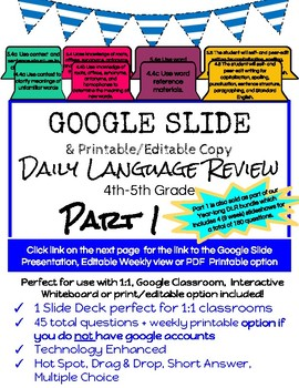 Daily language review 4th grade teaching resources teachers pay 54 google slides daily language review 4th 5th grade sol 44 48 54 fandeluxe Images