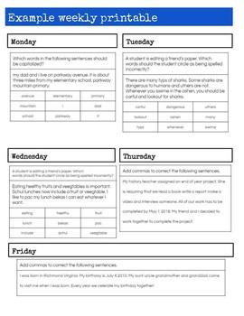 Google Slides Daily Language Review 4th-5th Grade (SOL 4.4, 4.8, 5.4)