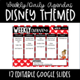 Google Slides Daily and Weekly Agendas-Mickey Mouse Disney Themed