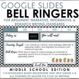Digital Bell Ringers for Middle School Writing Standards