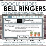 Digital Bell Ringers for Reading Informational Texts in Gr