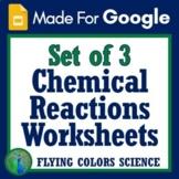 Google Slides Digital Chemical Reactions Changes to Matter Reactants Products