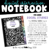 Google Slides Digital Interactive Notebook 5th Grade S.S.