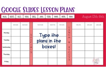 Google Slides Digital Lesson Planner