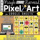 Google Slides Digital Pixel Art Magic QUICK Reveal EMOJIS