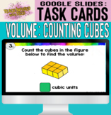 Google Slides Digital Task Cards: Calculate Volume by Counting Cubic Units!