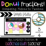 Google Slides: Donut Comparing Fractions - Halves to Twelf