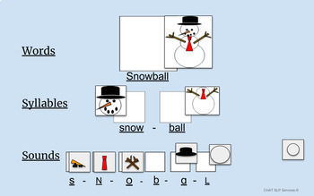 Google Slides Drag and Drop - Phonological Awareness - WINTER theme