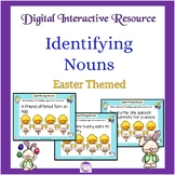 Google Slides Easter Themed Noun Activity with Google Form and Task Cards