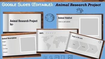Google Slides (Editable): Animal Research Project