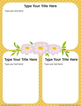 Google Slides Editable Newsletter -Floral & Yellow
