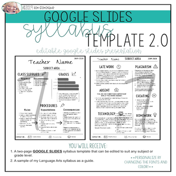 Syllabus Template Editable Google Worksheets & Teaching