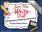 Google Slides Edition ~ 12 Month Writing Calendar Set ~ Ju