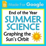 Google Slides End of Year Summer Science Activity Graph Sun Earth Distance