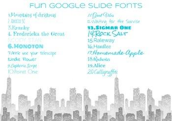 Google Slides FUN FONTS Posters
