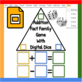 Google Slides ™︱Fact Family Add/Subtract with Digital Dice