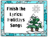 Google Slides Finish the Lyrics Holiday Songs Edition