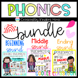 Fun Phonics Beginning Middle Ending Sound for Google Slides Distance Learning