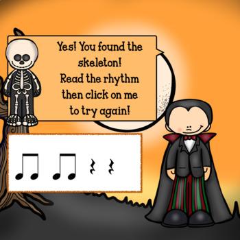Interactive Music Game-(Rhythm) Google Slides Mia's Mystical-quarter/eighth note