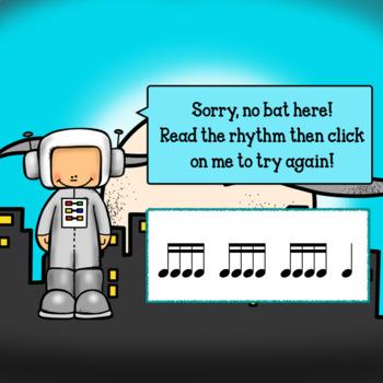 Interactive Music Game-(Rhythm)Google Slides Mia's Mystical -Sixteenth notes