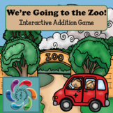 Interactive Math Game (Addition) Google Slides - We're Going to Zoo!-sums to 100