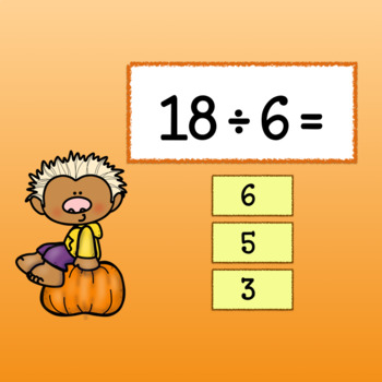 Interactive Math Game -Division Google Slides - Fall Fun with Facts