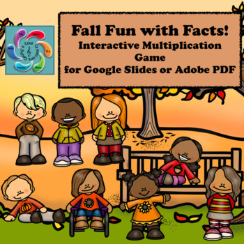 Interactive Math Game Google Slides Multiplication- Fall Fun with Facts