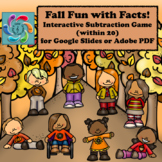 Interactive Math Game Google Slides Subtraction- Fall Fun