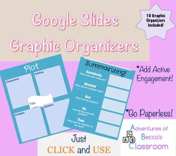 Google Slides 10 Graphic Organizers: Reading Comprehension