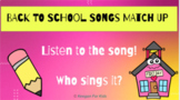 Google Slides Guess the Back to School Song Virtual Meeting Game