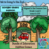 Google Slides Games Interactive Addition- Zoo Bundle sums
