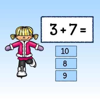 Interactive Addition Game-Google Slides-Winter Frolics with Facts