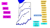 Google Slides Interactive Indiana Map Drag and Drop