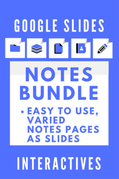 Google Slides Interactive Notetaking Bundle