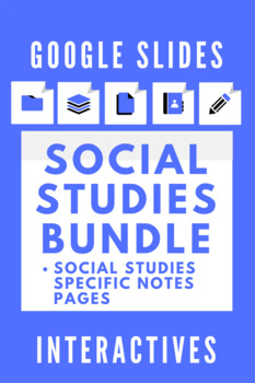 Google Slides Interactive Notetaking Social Studies/History Bundle