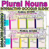 Google Slides Interactive Plural Sort - Distance Learning