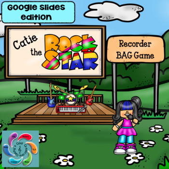 Google Slides Games-Interactive Recorder Music -Catie the