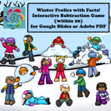 Google Slides Interactive Subtraction-Winter Frolics with Facts