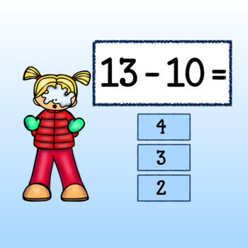 Interactive Subtraction Game-Google Slides-Winter Frolics with Facts