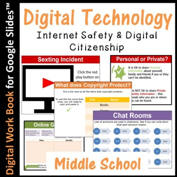 Google Slides - Internet Safety and Digital Citizenship E-Book (editable)