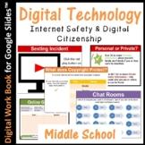 Internet Safety and Digital Citizenship E-Book (editable) for Google Slides™