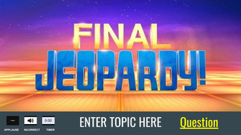 Google Slides - Jeopardy Game Template