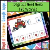 Google Slides Kindergarten CVC Words Distance Learning Digital Word Work