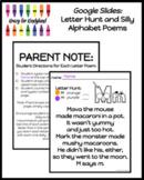Google Slides: Letter Hunt Silly Alphabet Poems (Distance