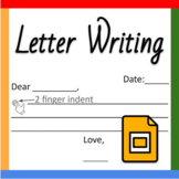 Google Slides ™︱Letter Writing - Distance Learning