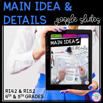 Google Slides Main Idea & Details - 4th & 5th RI.4.2 / RI.5.2