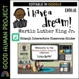 Martin Luther King Jr. Bitmoji Classroom Interactive Google Slide | EDITABLE