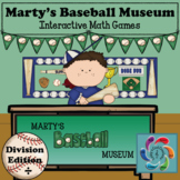 Interactive Math Game (Division) Google Slides- Marty's Baseball Museum-