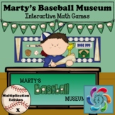 Google/PDF Marty's Baseball Museum-Interactive Multiplication- distance learning