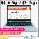 Google Slides Math Lesson - Add in Any Order Commutative Property Day 1